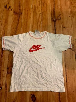 Nike white and red top size small