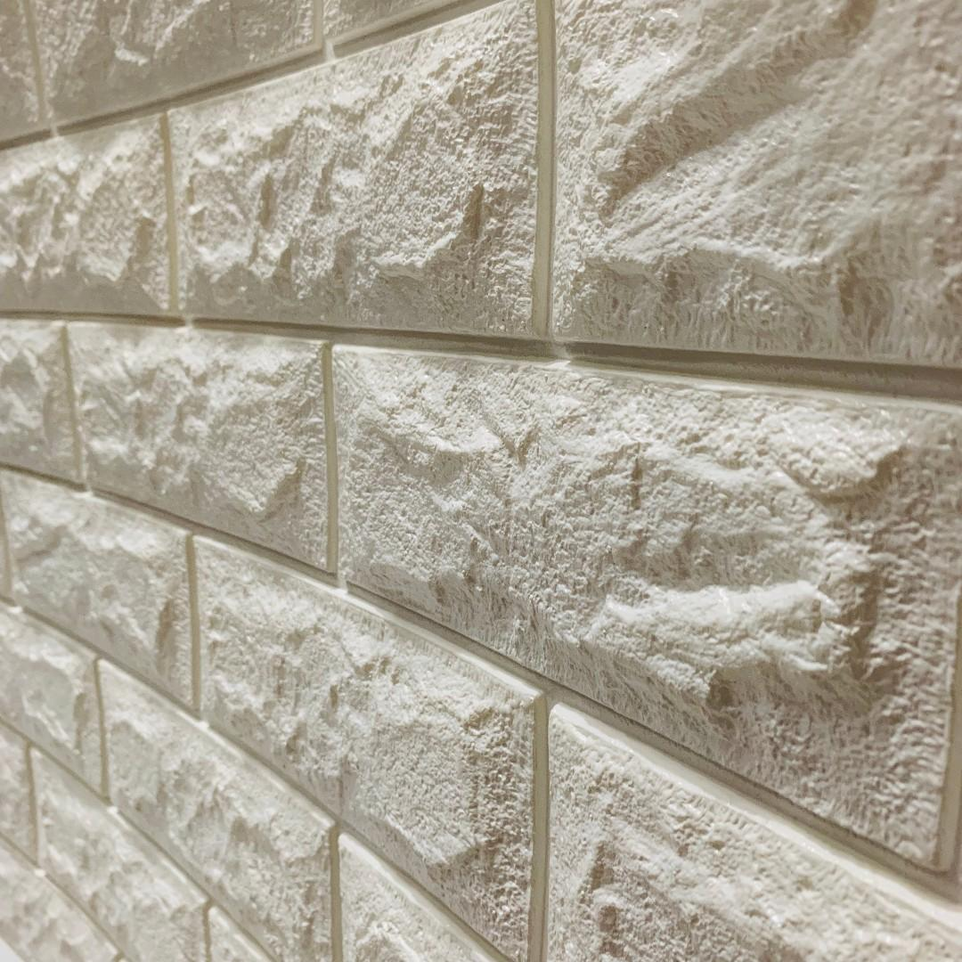 1cm Thick 3d Wallpaper Brick Bricks Foam Adhesive White