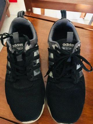 Adidas camouflaged running shoes