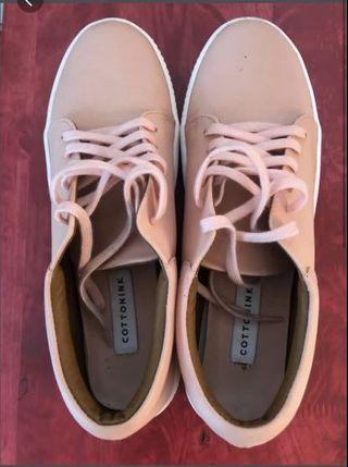Cotton Ink Pink Sneakers