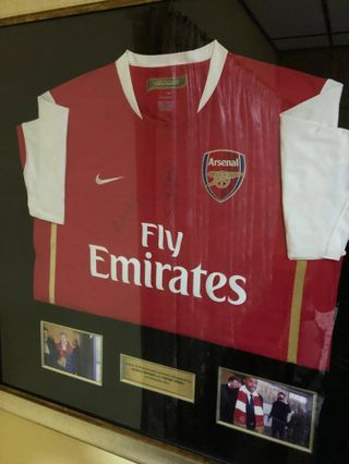 dbf0655c5d8 Original framed Arsenal jersey autographed by Thierry Henry and Arsene  Wenger!