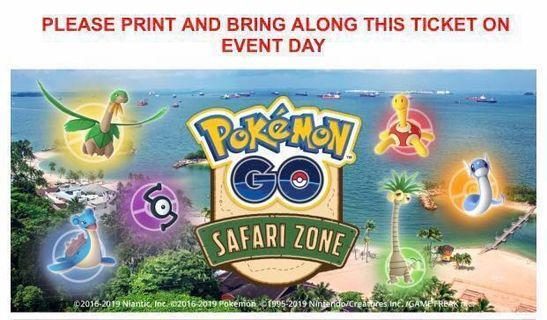 Pokemon Go Safari Zone Ticket Clearance!