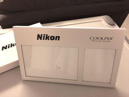 <New> Nikon silver photo frame