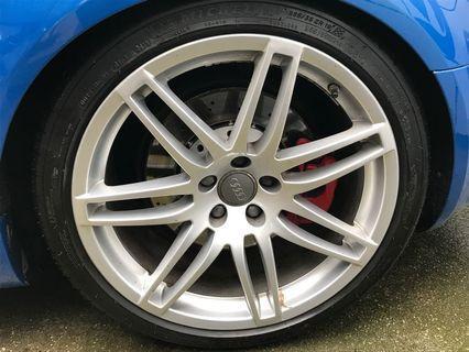 """19"""" RS4 rims with Pirelli Pzero"""