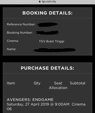 Avengers Endgame @ Aeon Bukit Tinggi