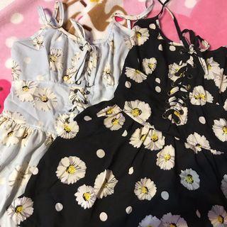 🚚 daisy shoelace romper dress