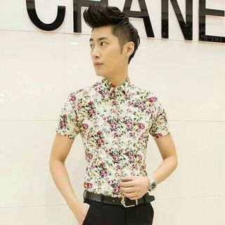 New Men Floral Shirt
