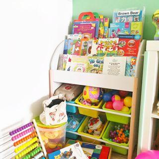 *preorder* Wooden Children Toy and Book Shelf