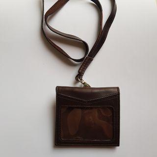 Leather ID Card Landyard