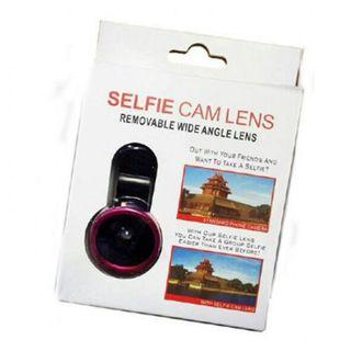 Selfie cam lens removable wide angle lens