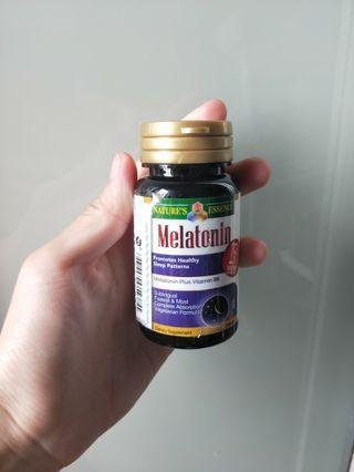 Half bottle of Nature's Essence melatonin