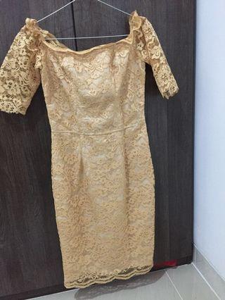 Gold Sabrina Dress