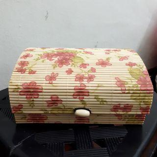 🆕️ Floral Bamboo Makeup Storage Box