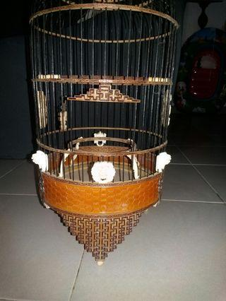 Old puteh bird cage for sales