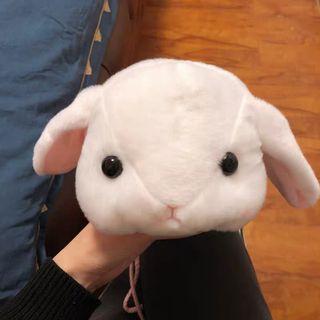 🚚 毛絨兔子斜背包