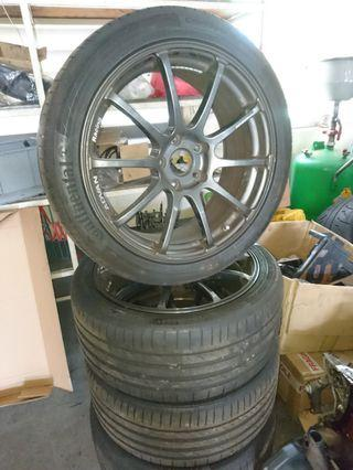 Original Advan RS 18' Rims with Tyres