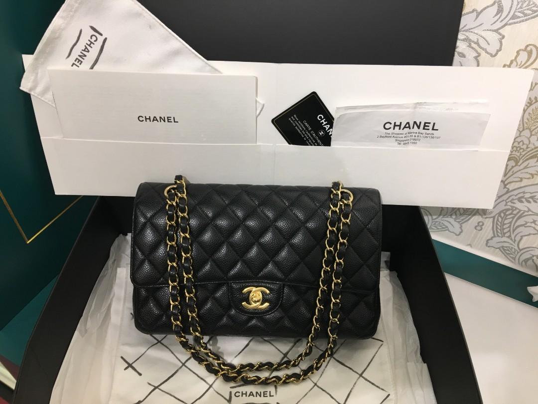 8b135c50e5b6 20 LNIB Chanel Classic Double Flap Medium Black Caviar with GHW ...