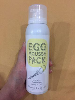 Egg mousse pack mask