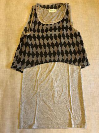 Black and grey summer dress