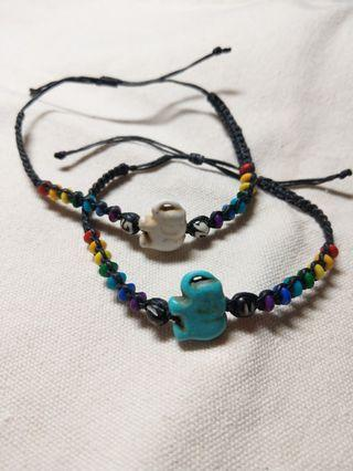 🚚 泰國Thailand🇹🇭大象彩虹手環 Rainbow Elephant Bracelet *2件pieces//全新NEW
