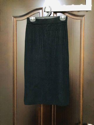 後開叉 針織裙