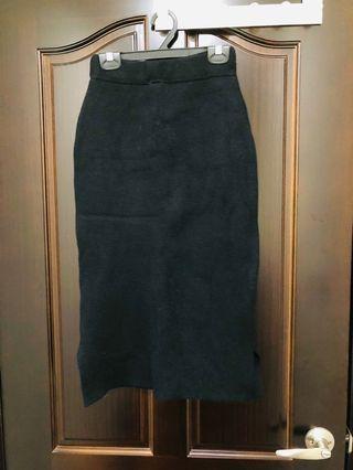 側邊開叉針織裙