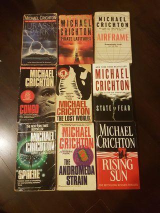 Michael Crichton's Books - 9 titles