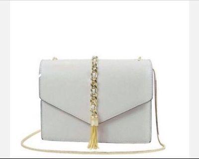 Shoulder bag tassel chain handbag wallet card holder in grey