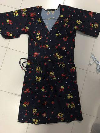 Floral wrap dress #MRTJurongEast