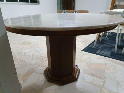 Marble table w/ chairs