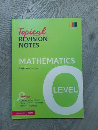 🚚 O Level Topical Revision Notes (E Math)
