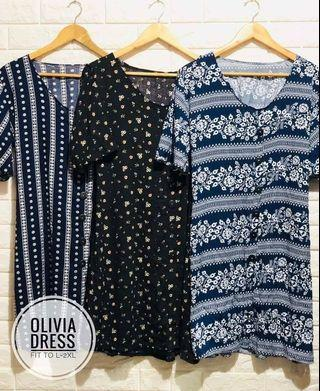 OLIVIA DRESS  Fabric: Challis  FIT TO LARGE UP TO 2XL
