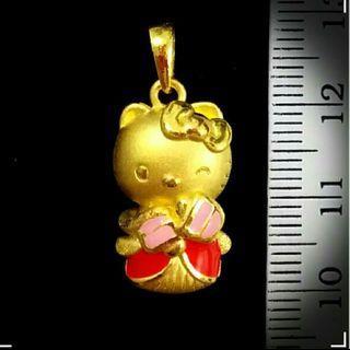 24K Gold Hello Kitty Pendent