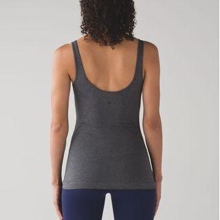 New Lululemon Back At It Tank in Heathered Pitch Grey Size 2