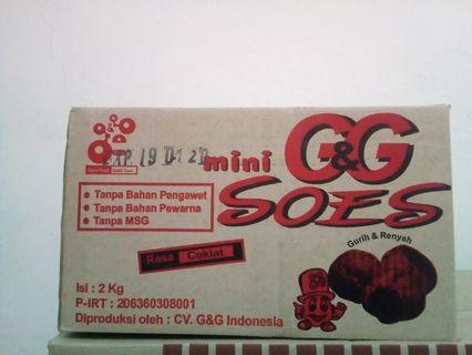G&G mini soes rasa coklat