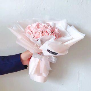 Special 520 Promo - Soft Pink Roses Bouquet 💐
