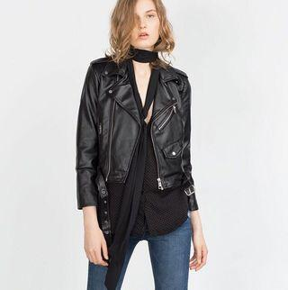 Zara Basic短版皮外套