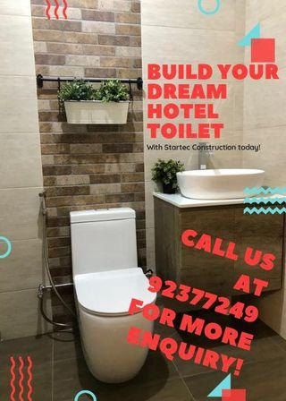 Dream hotel bathroom renovation