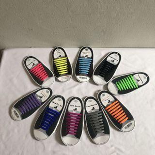 < CATZ > Colourful SiliconeShoe Lace No Tie Shoe Lace Sneaker Shoe Lace Elastic Easy Tie Shoe Lace
