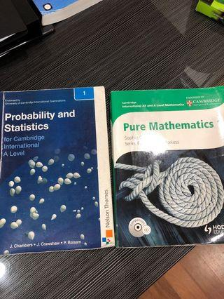 Probability and statistic & Pure maths 1