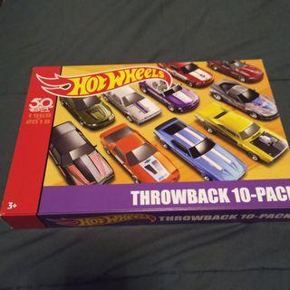 2018 Hot Wheels Throwback 10 pack box set 50th Anniversary Limited Edition