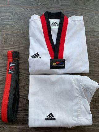 Taekwondo Poom Uniform - Adidas (Size 130cm) + Belt