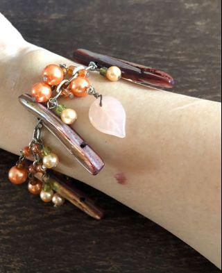 Natural stones and crystals bracelet