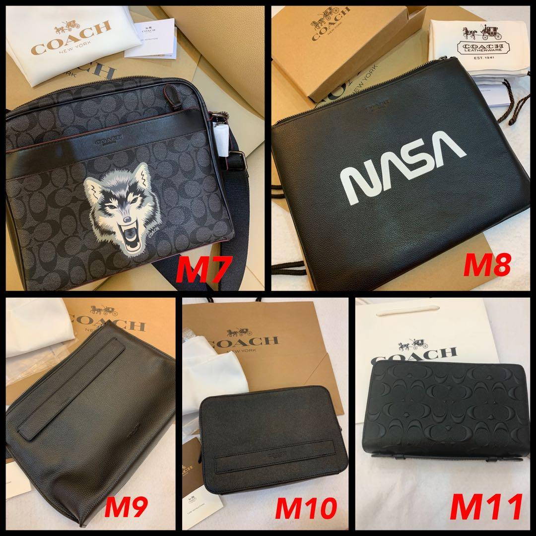 (21/94/19)Authentic Coach men wallet purse clutch backpack messenger ready stock coach leather backpack collection