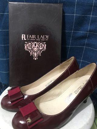 FL Fair Lady 酒紅色高跟鞋👠24號