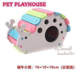 hamster accessories seesaw playhouse hideout wooden playground