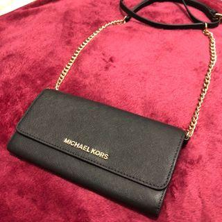 NEW - Michael Kors Jet Set Wallet On A Chain WOC