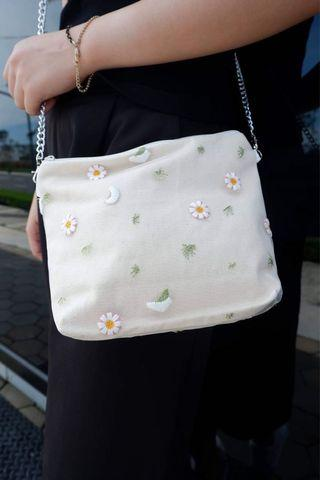 Flower and Leaf Embroidery Petite Sling
