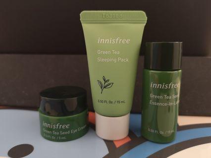 Innisfree Green Tea trio