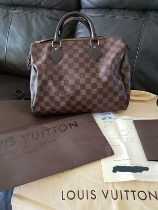 🚚 (RECEIPT) Authentic LV Speedy 30 Damier Bag